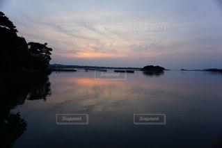 日本三景、松山に沈む夕日の写真・画像素材[1321753]