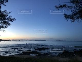 朝の海の写真・画像素材[1453850]