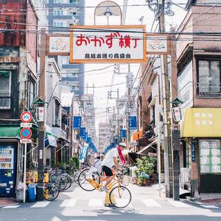 近くに忙しい街の通りのの写真・画像素材[317]