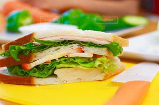 サンドイッチのカットの写真・画像素材[1751192]