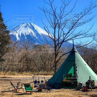 富士山とテントの写真・画像素材[2982835]