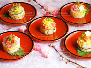 ひな祭りのミニケーキ寿司の写真・画像素材[1030633]