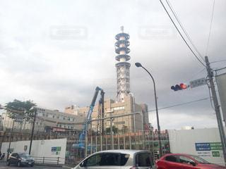 街の通りに信号機の写真・画像素材[726729]