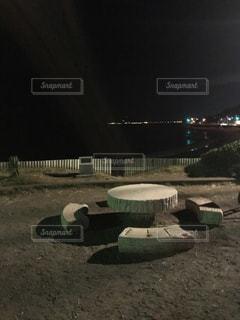 真夜中の海浜公園の写真・画像素材[727526]