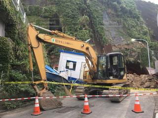小坪海岸トンネル崩落の写真・画像素材[729126]