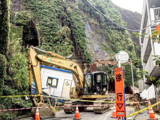 小坪海岸トンネル崩落の写真・画像素材[729127]