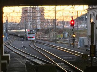 鋼のトラックの列車の写真・画像素材[769925]