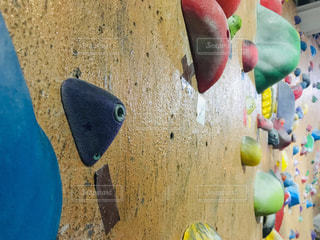ボルダリングの壁の写真・画像素材[2005853]