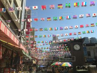 風景,空,ショップ,秋,観光,国旗,旗,韓国,ショッピング
