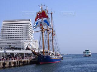 水体の大型船の写真・画像素材[1098676]
