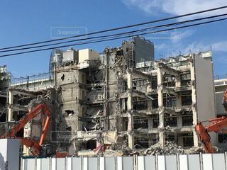 取り壊される建物の写真・画像素材[824357]