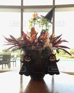 ハロウィンお花飾りの写真・画像素材[1447592]