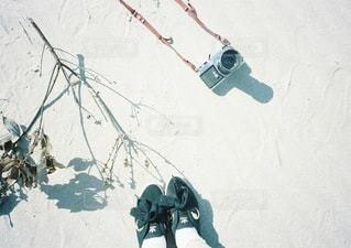 近くに雪の斜面をカバーの写真・画像素材[133]