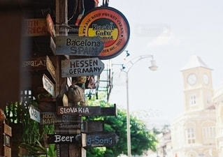 街路の柱の看板の写真・画像素材[2686240]