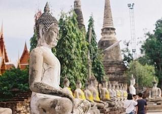 タイの世界遺産アユタヤ遺跡の写真・画像素材[2686241]