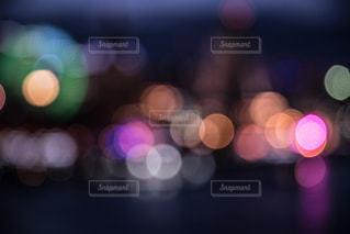 夜空と夜景の写真・画像素材[161106]