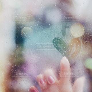 指,ハート,窓ガラス