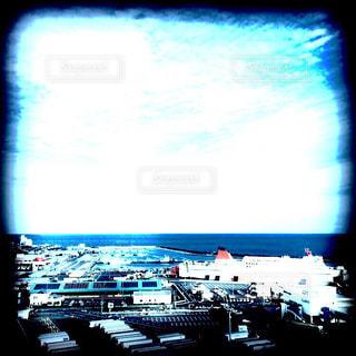 水体の大型フラット スクリーン テレビの写真・画像素材[883624]