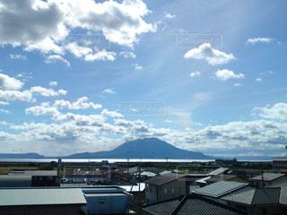 桜島と青空の写真・画像素材[1034680]