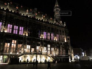 夜の建物の写真・画像素材[363949]