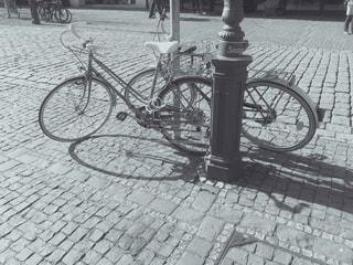 自転車,海外,モノクロ,レンガ,道,トーン