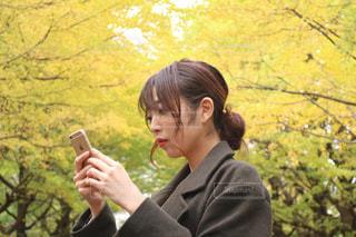 いくつかの草を食べている人の写真・画像素材[853262]