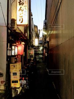 奈良町(ならまち)の路地裏の写真・画像素材[318511]