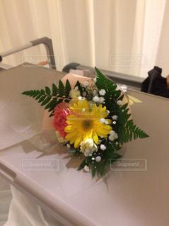 お見舞いのお花の写真・画像素材[884587]