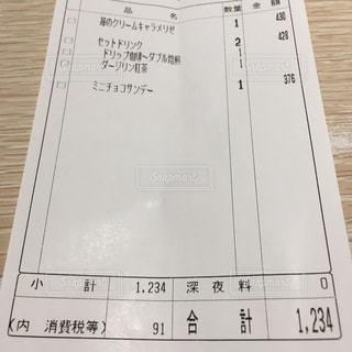 お会計1234円にビックリの写真・画像素材[1127244]