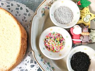 キッチン,クリスマス,サンタクロース,デコレーション,クリスマスケーキ