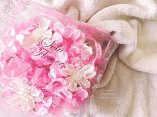 ピンクのフラワーソープの写真・画像素材[1190377]