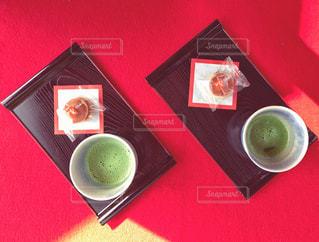 お抹茶とどら焼きの写真・画像素材[1292060]