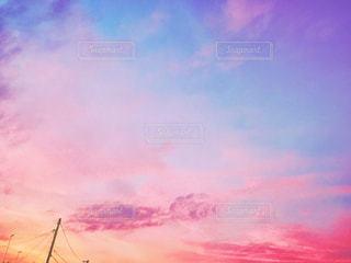夕暮れ時のグラデーションの写真・画像素材[1301291]