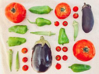 並べた夏野菜♪の写真・画像素材[1350877]