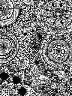 花をイメージした線画のボタニカルアートの写真・画像素材[1524243]