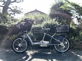 子供乗せ自転車の写真・画像素材[1556855]