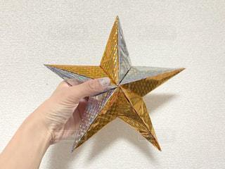 折り紙で作った星の写真・画像素材[1685663]
