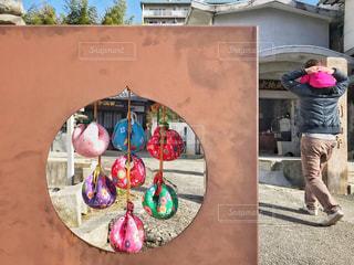 圓満寺の看板のお結び玉の写真・画像素材[1815756]