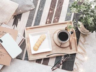 お家でコーヒータイムの写真・画像素材[2333048]