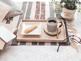 お家でコーヒータイムの写真・画像素材[2333056]