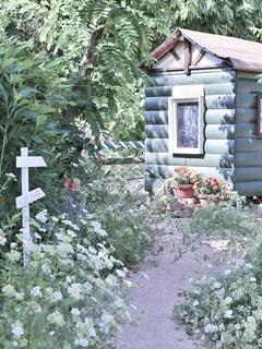 メルヘンな小屋の写真・画像素材[2392558]