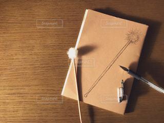 ノートに描いた耳かきのイラストの写真・画像素材[2480827]