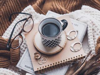 秋のコーヒータイムの写真・画像素材[2494215]