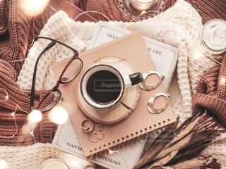 秋なコーヒータイムの写真・画像素材[2494226]