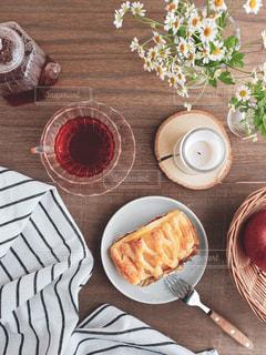 アップルと紅茶の写真・画像素材[3166506]