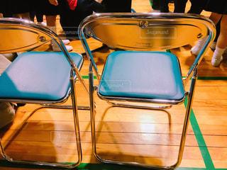 体育館のパイプ椅子の写真・画像素材[1030467]