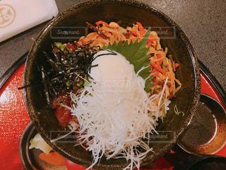 マグロユッケ丼の写真・画像素材[1393947]
