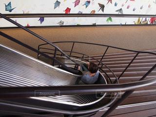 展望台から下へすべり台の写真・画像素材[1397760]