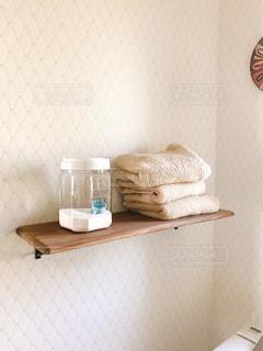 洗面所のタオル置きの写真・画像素材[1522803]