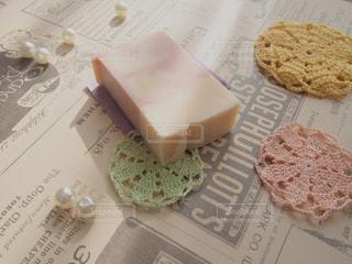 手作りハーブ石鹸ブツ撮りの写真・画像素材[1632631]